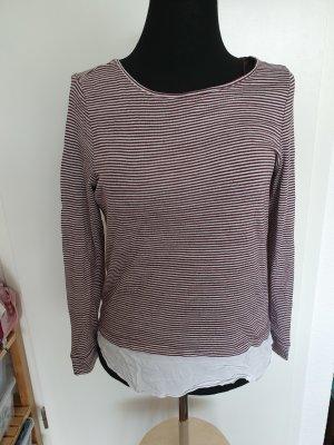 Esprit Stripe Shirt natural white-brown red