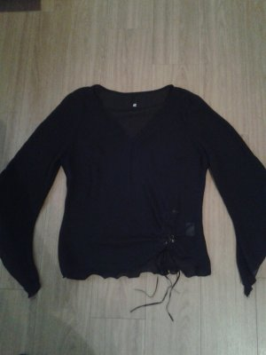 Blusen Shirt in Schwarz