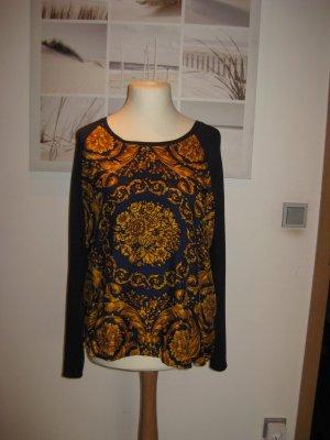 Blusen Shirt Longsleeve von Anni Carlsson  tolles Muster L  mit Seide