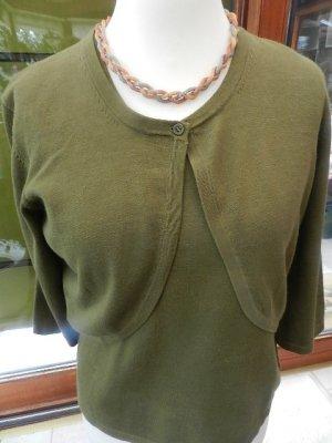 Blusen Shirt mit Bolero Jacke - Oliv - guter Zustand Gr. 38/40