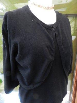 Blusen Shirt mit Bolero Jacke - schwarz - guter Zustand Gr. 38/40