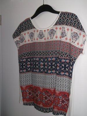 Blusen-Shirt mit Rückenausschnitt Gr 38