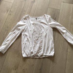 Blusen -Shirt mit Spitzenapplikation