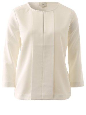 Blusen-Shirt von RENA MARX mit Frontbiese weiß Shirt Bluse