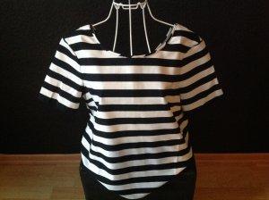 Blusen-Shirt von s.Oliver * creme/ dunkelblau gestreift * Gr.36 * wie neu