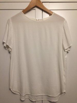 Blusen-Shirt, weiß, leicht transparent