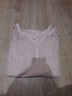 Blusen T-Shirt rosa mit Spitze in L