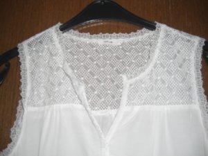 Blusen Top mit Spitze weiß Opus