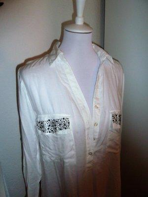 Blusen-Tunika in weiß mit Nieten