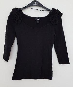 H&M Bodyblouse zwart-antraciet