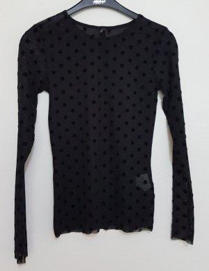 Stradivarius Lange blouse zwart-antraciet
