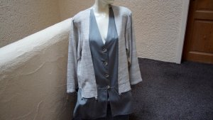 Boyfriend Blazer grey-natural white viscose