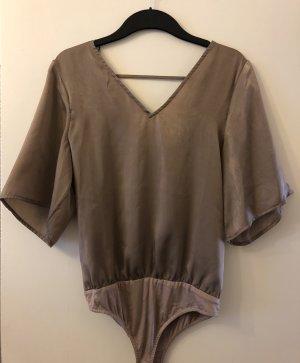 Noisy May Blusa tipo body color bronce-marrón claro