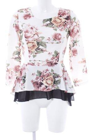 Empiècement de blouses motif de fleur élégant