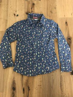 Blusenhemd Boden Vögelmotiv