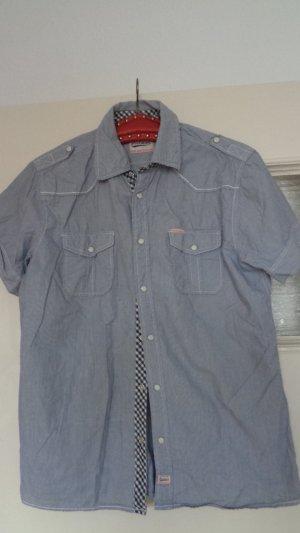 Cols de blouses bleu azur coton