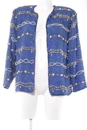 Veste chemisier bleu élégant