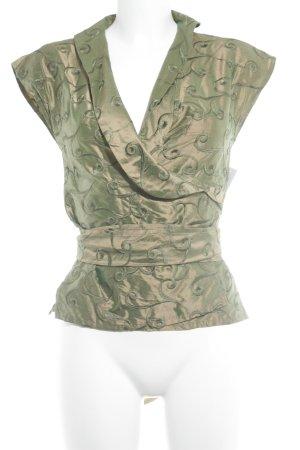 Blousejack brons-groen abstract patroon elegant