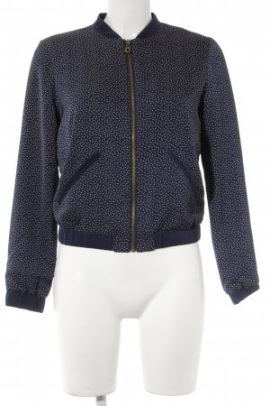 Blouse Jacket dark blue-cream spot pattern casual look
