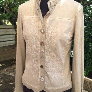 Blusenjacke in grau-beige von Bottega Gr. S