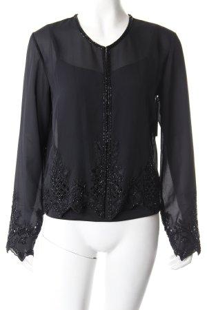 Blusenjacke mit Top schwarz