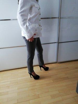 Olsen Chaqueta tipo blusa blanco