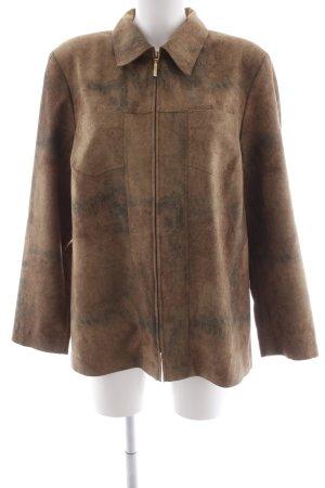 Chaqueta tipo blusa marrón arena-marrón grisáceo moteado estilo extravagante