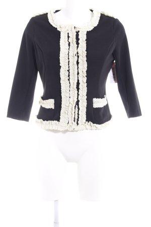 Veste chemisier noir-blanc cassé style extravagant