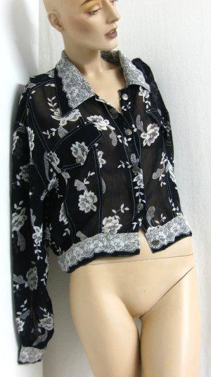 Blusenjacke, transparent, Gr. M/L