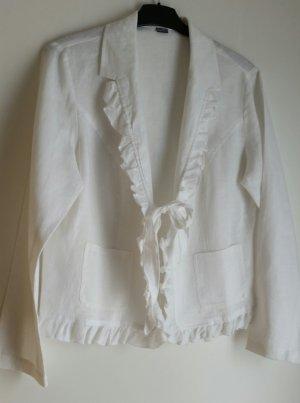 Blusenjacke weiß mit Rüschen