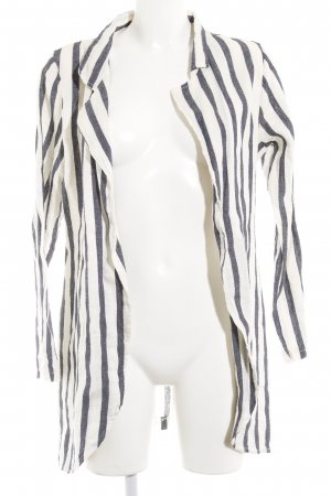 Blouse Jacket natural white-dark blue striped pattern casual look
