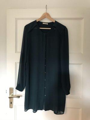 Vestido tipo blusón petróleo