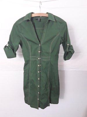 Mango Basics Blouse Dress dark green-forest green