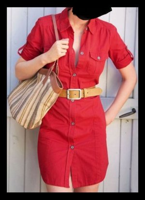 Cargo Dress dark red