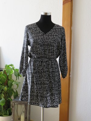 H&M Blouse Dress white-black