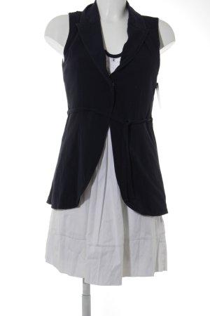 Blusenkleid dunkelblau-weiß Casual-Look