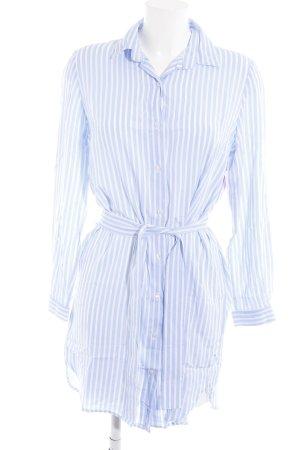 Blusenkleid hellblau-weiß Streifenmuster Casual-Look
