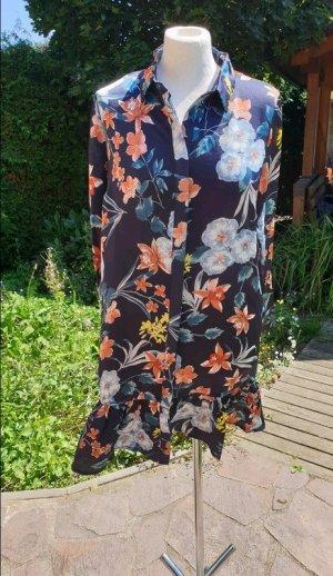 Blusenkleid Hemdkleid Minikleid Gr. S (36) YAS Langarm Herbstkleid Satin