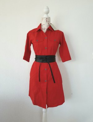 Blusenkleid in feurigem rot Sommerkleid gr S