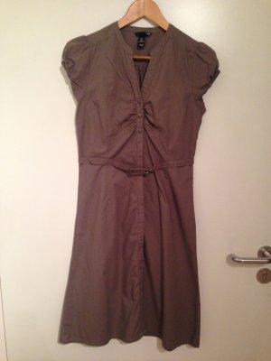Blusenkleid in taupe von H&M in Größe 38