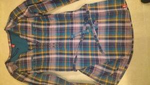 Blusenkleid kariert mit Bändel zum Binden