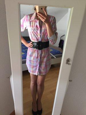 Blusenkleid kariert rosa