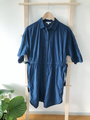Uniqlo Blouse Dress blue cotton
