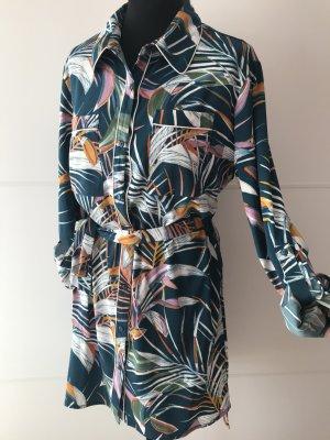 Blusenkleid Lange Bluse Tunika Longbluse L 40
