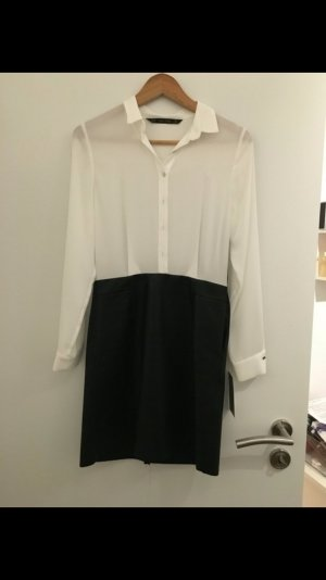 Zara Robe chemisier blanc-noir