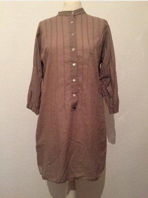 Blusenkleid / Long-Bluse / Tunika in beige von ZARA Basic, Gr. S