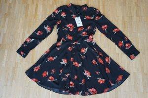 Blusenkleid mit Blumenmuster Gr. M