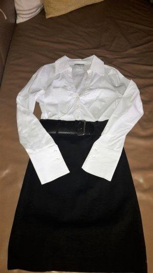 Heine Robe chemisier noir tissu mixte