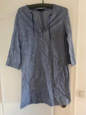 Blusenkleid mit Lochmuster von Daniel Hechter in verwaschenem blau