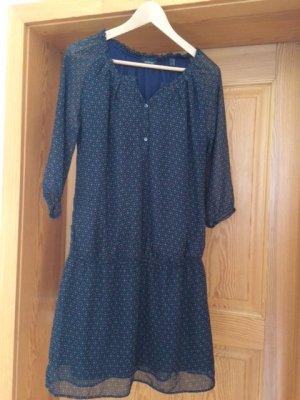 Blusenkleid mit Muster in Blau